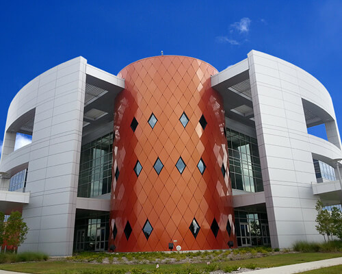 NOW 4100: Metal Composite Material Wall Panel Systems | NOW Specialties  - rainscreen-san-jacinto-college